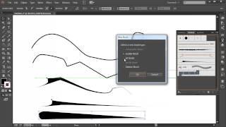 Quick brush strokes in illustrator