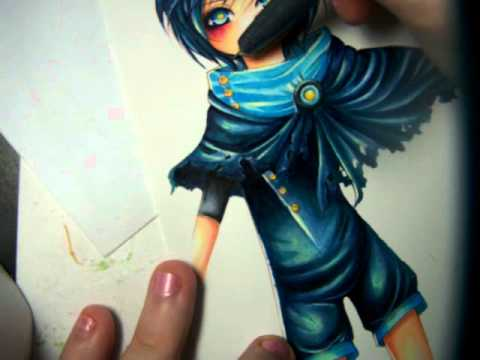 Watch me Draw - Copic coloring final - YouTube