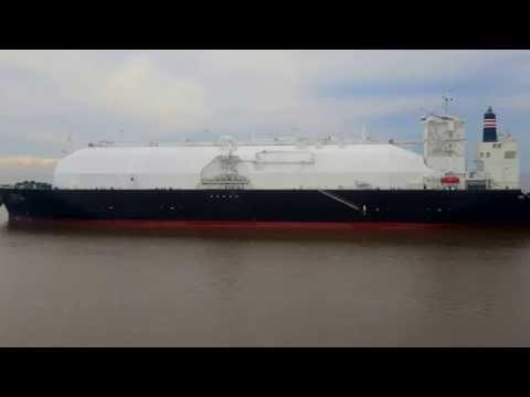 """LNG Tanker Ship """"SEISHU MARU"""" - 21st.April 2016 - 0741 LT Inbound Vessel #RioDeLaPlata /""""BBC SPRING"""""""