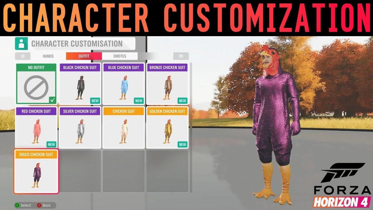 Forza Horizon 4 New Character Customization Gameplay Emotes