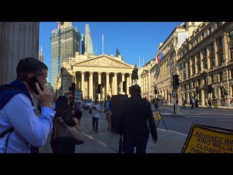 London, UK - Walk From Holborn To Bishopsgate Via Bank