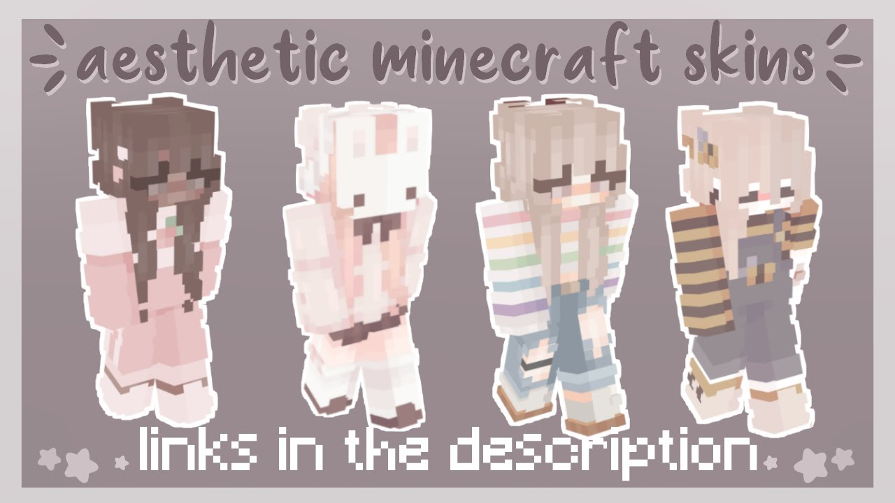 aesthetic minecraft skins for girls 🌷   links in description
