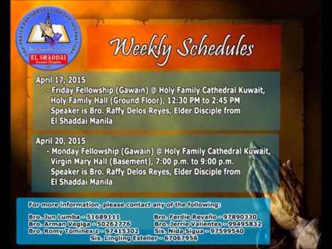 El Shaddai PPFI - Kuwait Chapter Friday Gawain 17 April 2015 (AUDIO ONLY)