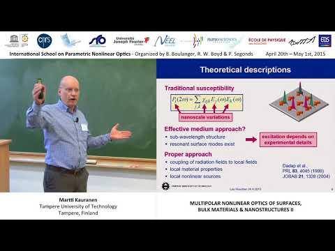 17/44 Multipolar nonlinear optics of surfaces, bulks & nanostructures II