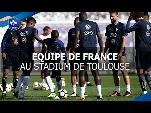 Equipe de France : entrainement au Stadium de Toulouse