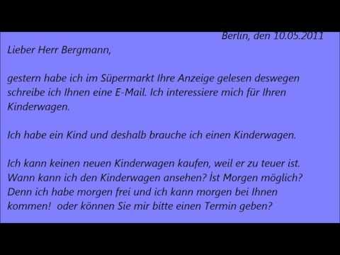Deutsche Brief A1 A2 B1 Prüfung 47