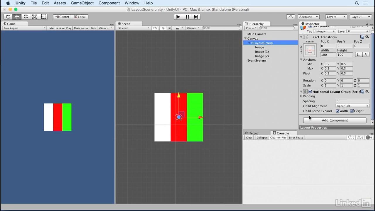 Unity 5: UI - 8 1 Understanding horizontal & vertical layouts