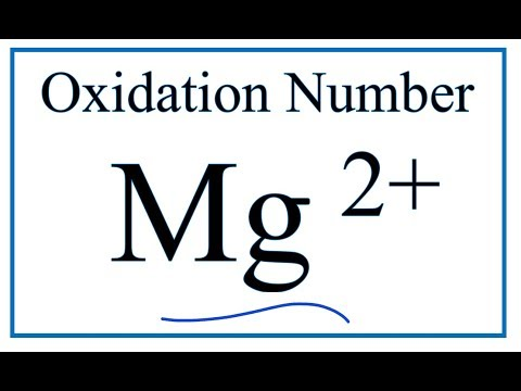 How To Find The Oxidation Number For The Mg2+ Ion.     (Magnesium Ion)
