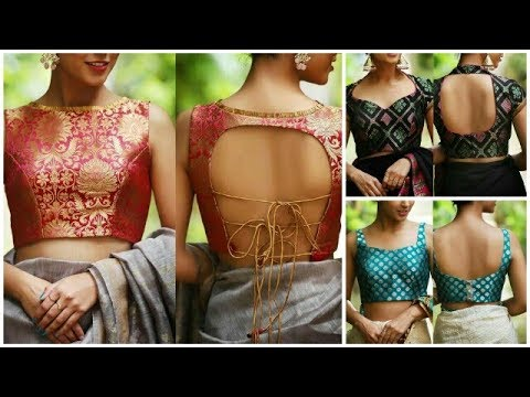Brocade fabric blouse designs ideas for saree/ top 10 brocade blouse for lehanga