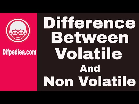 Difference Between Volatile And Non Volatile