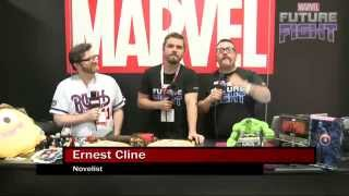 Ernie Cline Knows His Japanese Spiderman on Marvel LIVE! at San Diego Comic-Con 2015