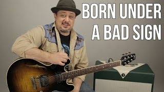 How To Play Born Under A Bad Sign Cream Eric Clapton Version Blues Rock Guitar Lesson