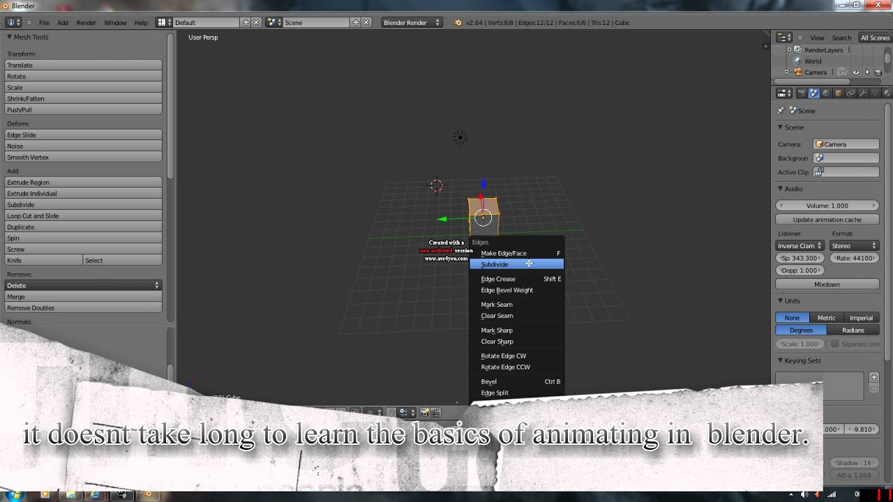 Best free 3d animation software blender youtube for Software 3d free