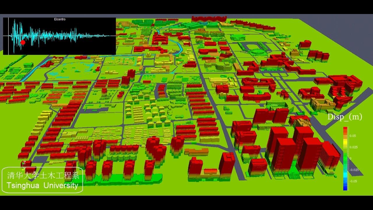 Tsinghua University Campus Map.High Fidelity Seismic Scenario Simulation Of Tsinghua University