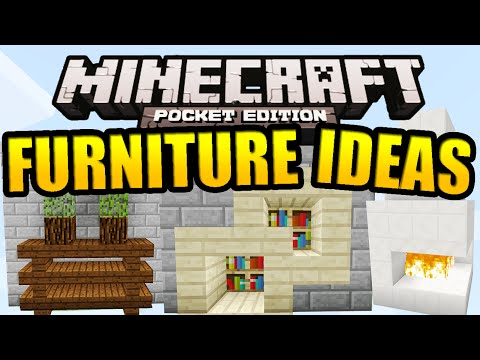 Minecraft PE Furniture Ideas (Tutorial)