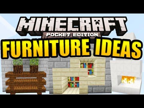 Minecraft PE Furniture Ideas (Tutorial)