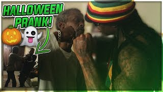 Halloween PRANK on my MAD UNCLE *ANGRY DAD*