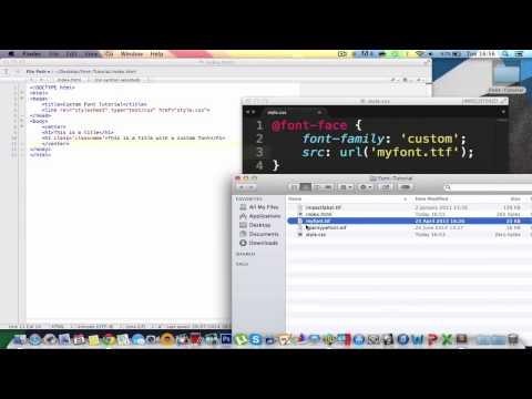 CSS/HTML Custom Fonts