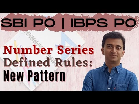 Number Series - Defined Rules: New Pattern | SBI PO 2017 Online Classes