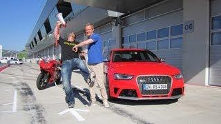 Audi RS 4 gegen Ducati 1199 Panigale - GRIP - Folge 198 - RTL2