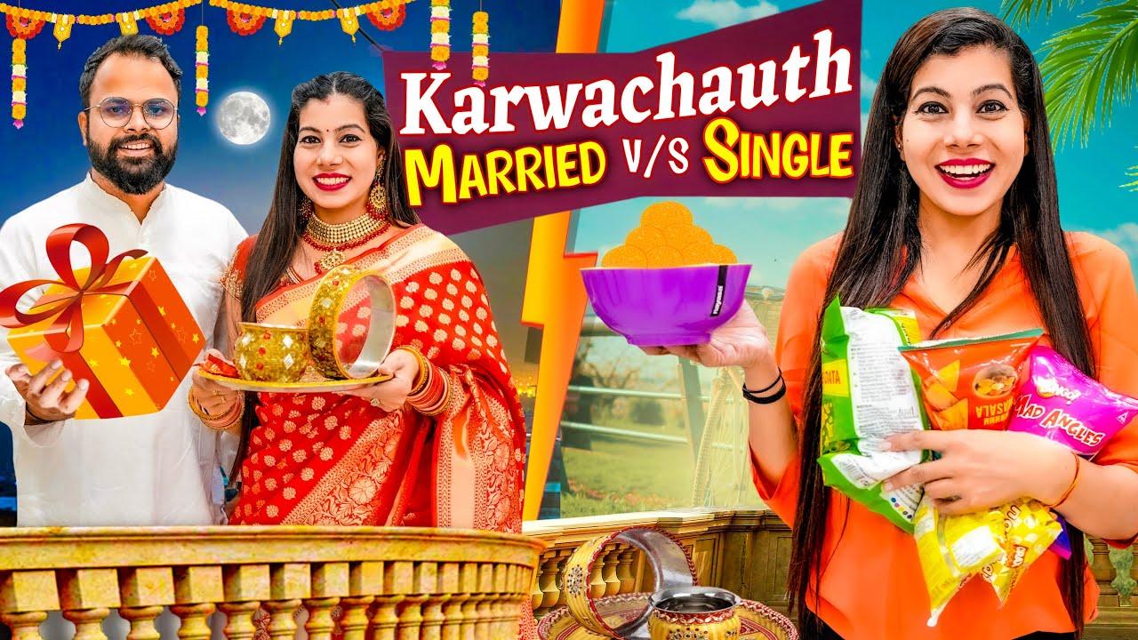 Single vs Married Karwachauth   Sanjhalika Vlog