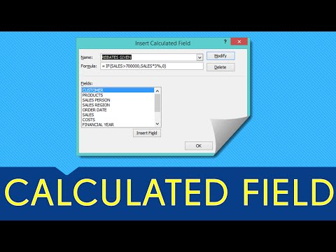 Excel Pivot Table CALCULATED FIELD: Excel 2013, 2010 & 2007