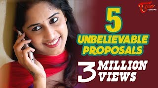 Repeat youtube video 5 Unbelievable Proposals | Latest Tamil Short Film 2016 | By Chakradhar Reddy B | #TamilShortFilms