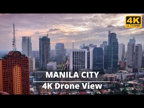 Manila city Philippines by drone | Manila Capital of the Philippines | Manila city tour | #Manila