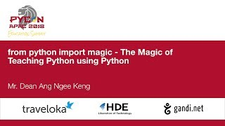 from python import magic - The Magic of Teaching Python using Python - Education Summit 2018