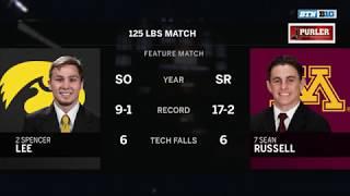 125 LBS: #2 Spencer Lee (Iowa) vs. #7 Sean Russell (Minnesota)