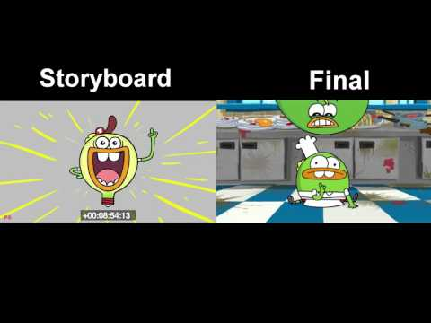 Dinner Ducks Ending: Storyboard vs. Final.