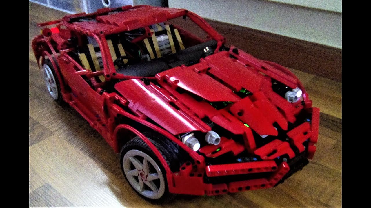 lego technic 1 8 awd supercar rc brushless mixing features of ferrari enzo and 599gtb youtube. Black Bedroom Furniture Sets. Home Design Ideas