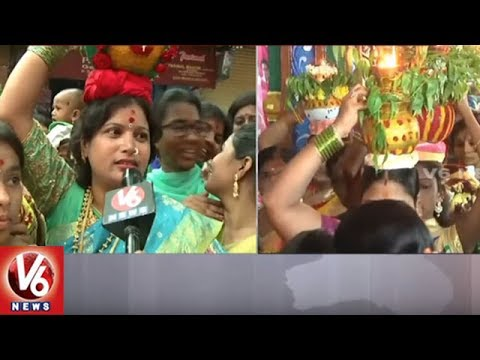 Lashkar Bonalu: Devotees Throng To Ujjaini Mahankali Temple | Secunderabad | V6 News