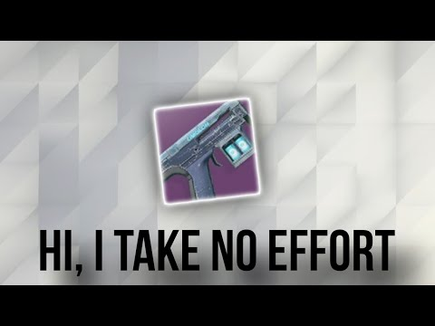 The Little To No Effort Destiny 2 GUN (Last Hope)