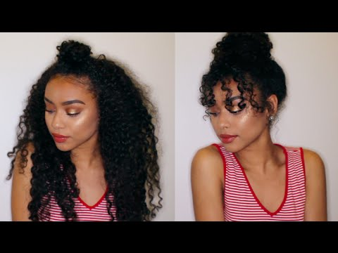 styles for wavy hair 8 easy curly hairstyles curly hair tutorial 9565