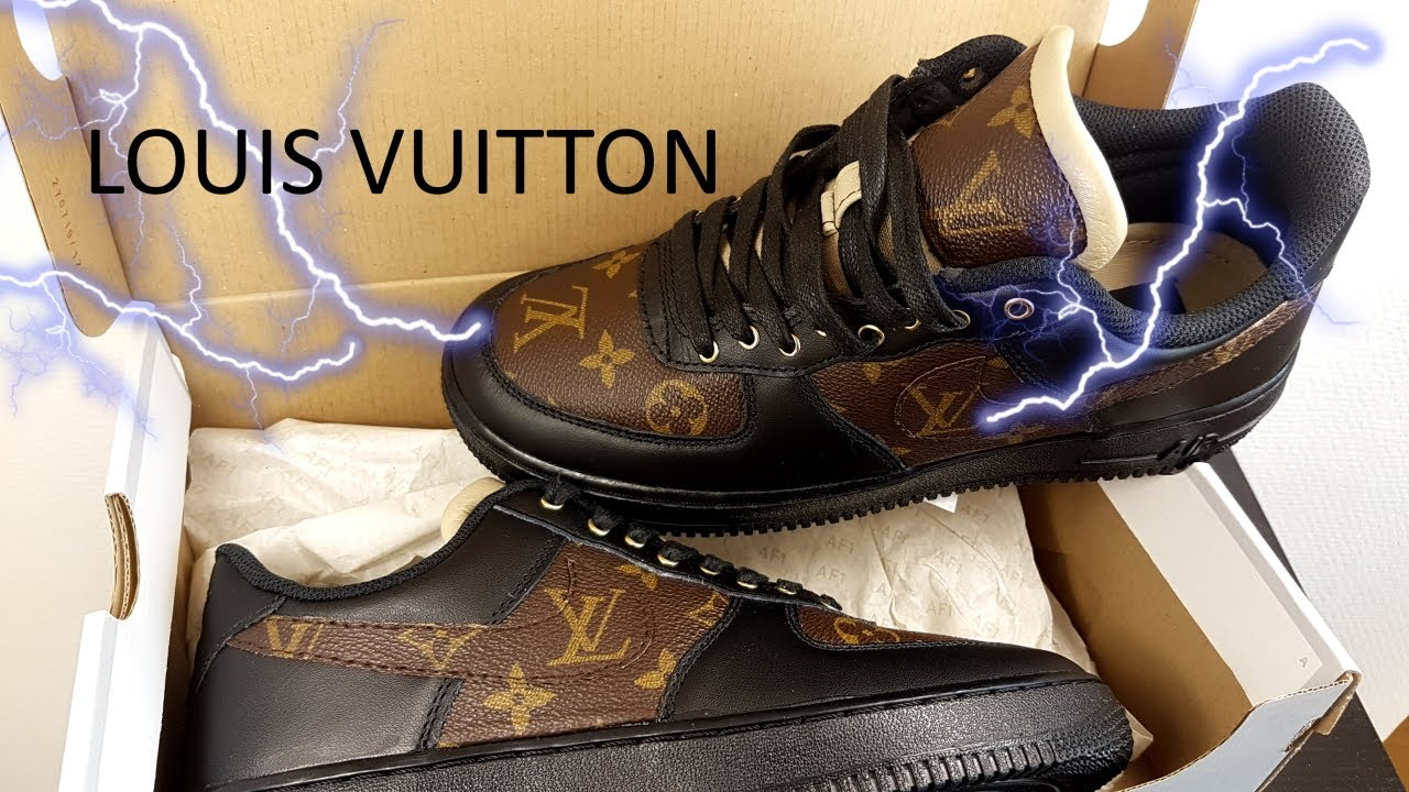 Custom Louis Vuitton Nike Air Force Ones Youtube Louis vuitton grey monogram air vent mask. custom louis vuitton nike air force ones