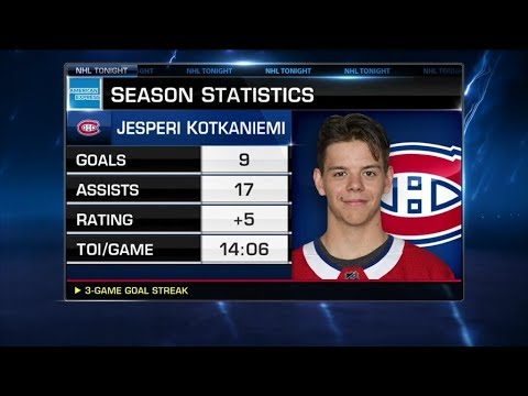 NHL Tonight:  Arpon Basu:  Which players have stepped up for the Canadiens  Feb 7,  2019