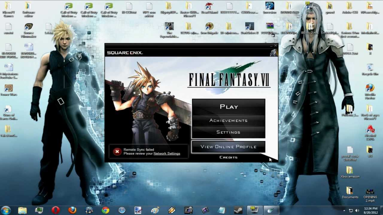 serial de final fantasy vii pc
