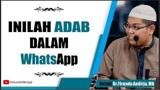 Download Mp3 Adab Dalam Whatsapp, Chatting Di Media Sosial - Ustadz Dr Firanda Andirja, Ma
