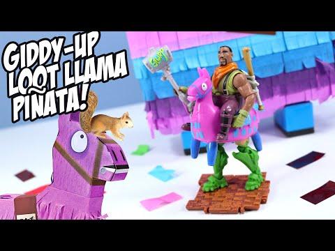 Fortnite Toys Giddy-Up Loot Piñata Llama Toy Review 2020