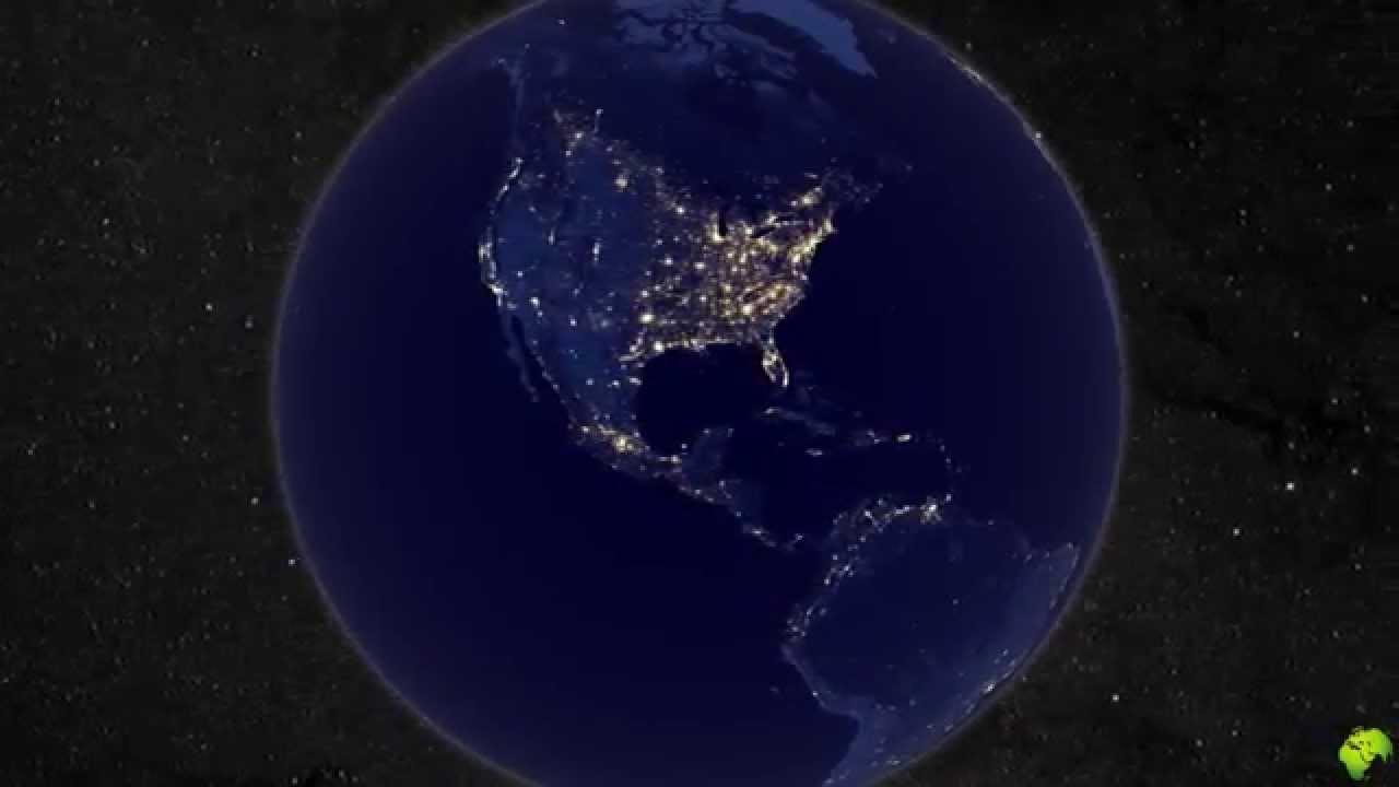 La terre vue de nuit et de l 39 espace youtube - Les sinsin de l espace ...