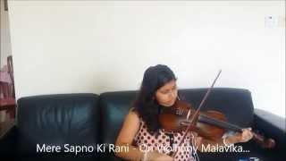 Mere Sapno Ki Rani Kab Aayegi Tu - On Violin - By Malavika Harish