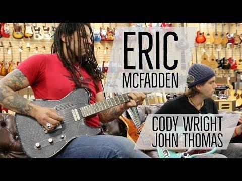Eric McFadden with Cody Wright & John Thomas at Norman's Rare Guitars