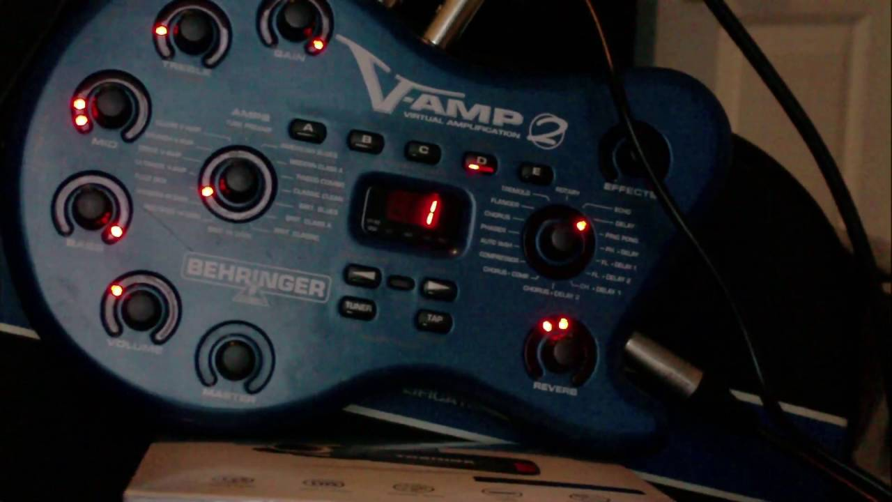 behringer v amp 2 part 2 vamp guitar multi effects pedal processor amp modeller youtube. Black Bedroom Furniture Sets. Home Design Ideas