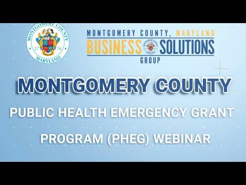 Montgomery County Public Health Emergency Grant (PHEG) Webinar - Q&A Discussion (4/23/2020) MANDARIN