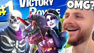 MY FIRST WIN ON FORTNITE WITH NEW HALLOWEEN SKINS!
