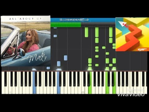 All About Us Piano Synthesia (Dancing Line) by Marta