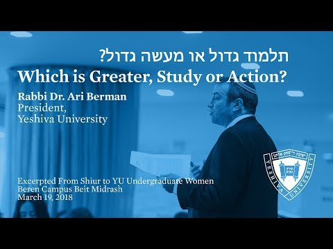 Which Is Greater, Study Or Action?