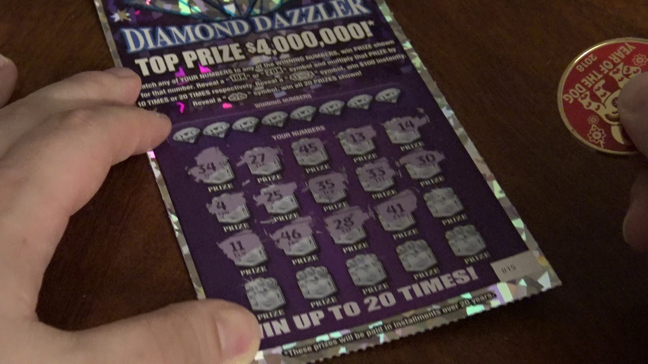 $20 North Carolina $4,000,000 Diamond Dazzler Scratch Off Ticket Winner