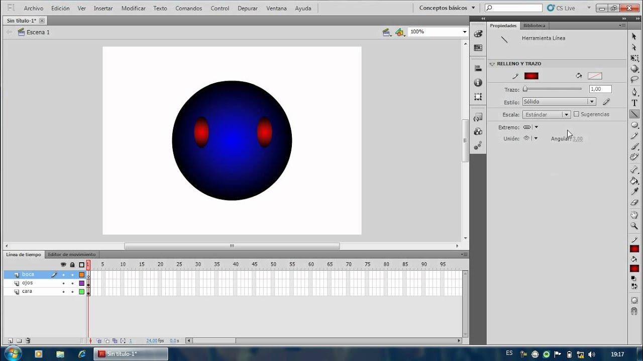 animacion fotograma a fotograma cs5 - YouTube